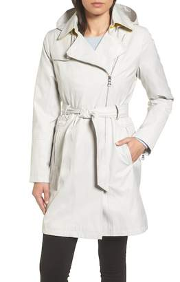 Vince Camuto BELTED ASYM TRENCH