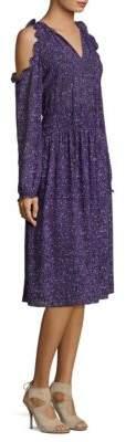 MICHAEL Michael Kors TWeed Cold-Shoulder Shift Dress