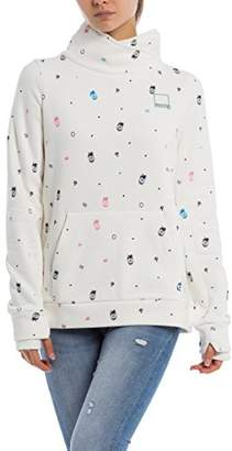 Bench Women's Her. Funnel Print Overhead Sweatshirt,Small