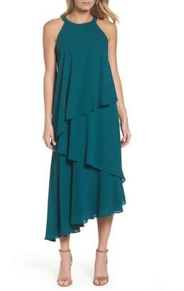Maggy London Georgette Asymmetric Dress