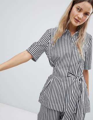 InWear Polina Stripe Tie Front Blouse