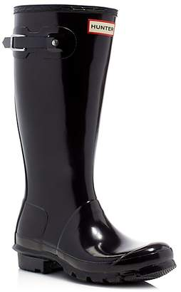 Hunter Unisex Gloss Original Kids Classic Rain Boots - Little Kid, Big Kid $80 thestylecure.com