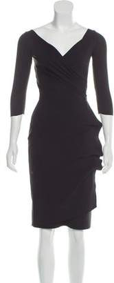 Chiara Boni Knee-Length Surplice Neck Dress