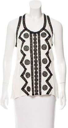 Andrew Gn Lace-Trimmed Sleeveless Top
