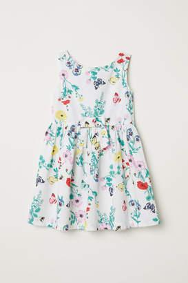 H&M Patterned Cotton Dress - White