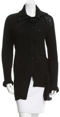 Yohji Yamamoto Asymmetrical Wool Cardigan w/ Tags $375 thestylecure.com