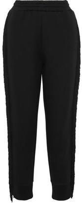 Stella McCartney Fringe-Trimmed French Cotton-Blend Terry Track Pants