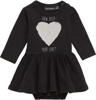 Rock Your Baby How Deep is Your Love? Skirted Bodysuit