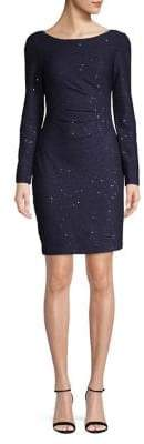 Vince Camuto Long-Sleeve Sequin Dress