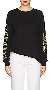 "Moschino Women's ""Couture Wars"" Cotton Long-Sleeve T-Shirt - Black"