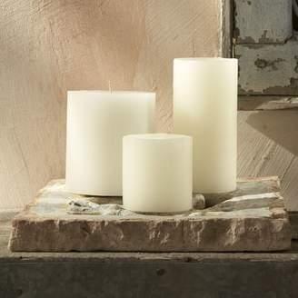 west elm Unscented Wax Pillar Candle