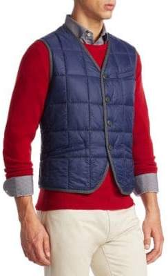 COLLECTION Cedric V-Neck Puffer Vest