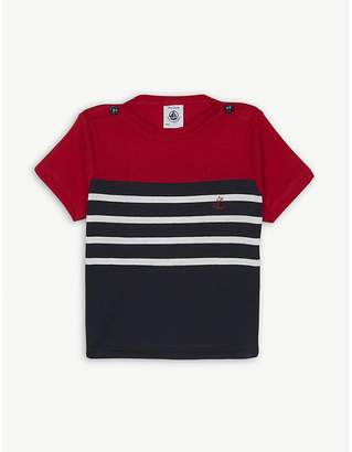 Petit Bateau Striped jersey cotton T-shirt 3-36 months