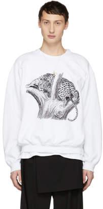 SASQUATCHfabrix. White Leopard Pilling Sweatshirt