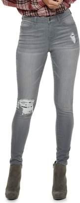 JLO by Jennifer Lopez Women's Sequin-Embellished MidRise Skinny Jeans