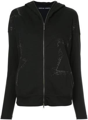 Marc Cain stud embellished hoodie