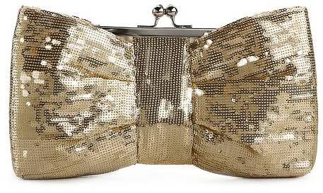 Townsend Lulu Allover Sequin Bow Clutch