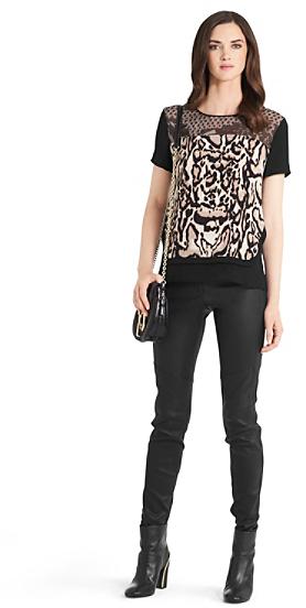 Diane von Furstenberg Becky Leopard Print Tee