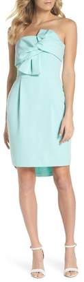 Adelyn Rae Krissy Twist Front Strapless Dress