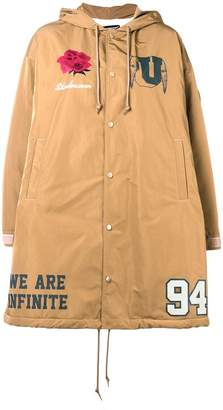 Undercover waterproof patch coat
