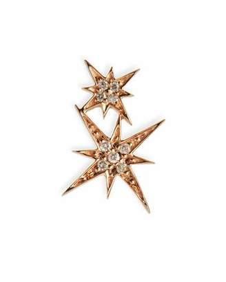 Sydney Evan 14k Pave Diamond Double Starburst Stud Earring