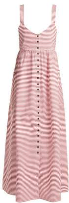 Mara Hoffman Orla Striped Cotton Dress - Womens - Red White