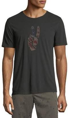 John Varvatos Men's Peace Hand Embroidered T-Shirt