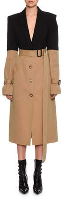 Alexander McQueen Blazer-Top Trench Coat