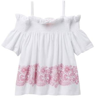 Joe Fresh Off-Shoulder Smocked Top (Little Girls & Big Girls)
