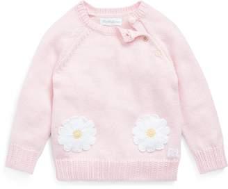 Ralph Lauren Daisy-Pocket Cotton Sweater