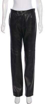 Ralph Lauren Sport Mid-Rise Leather Pants