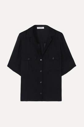 Equipment Parnella Silk-jacquard Shirt - Navy