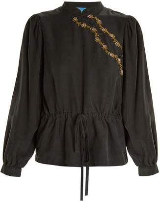 MiH Jeans X Golborne Road embroidered-detail woven blouse