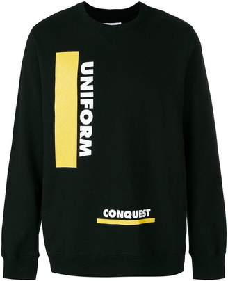 Sacai uniform conquest sweatshirt