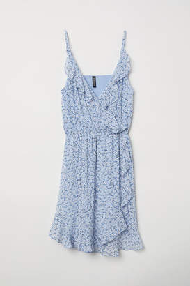 H&M Short Flounced Dress - Blue