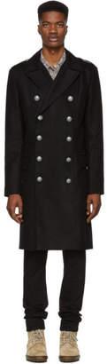 Balmain Black Double-Breasted Coat