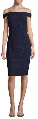 Eliza J Off-the-Shoulder Speckle Sheath Dress