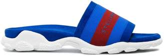 Stella McCartney Blue logo sport slides