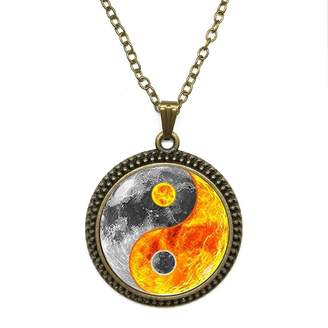 By Zoé Precious Stone Water & Fire Design Silver Necklace for Valentine's Day STORE