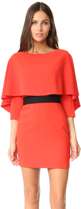alice + olivia Cairo 3/4 Sleeve Boat Neck Dress $330 thestylecure.com