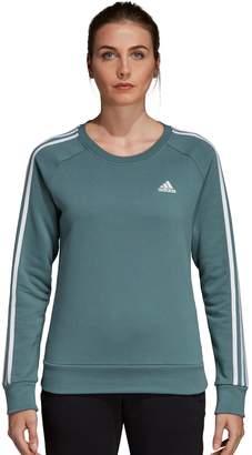 adidas Women's Fleece 3-stripe Crew Sweatshirt