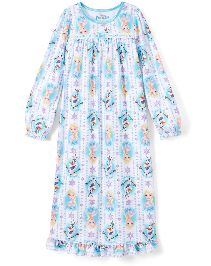 Frozen Blue Elsa & Olaf Nightgown - Girls