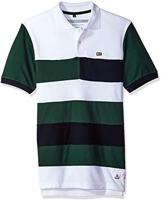 Southpole Men's Short Sleeve Stripe Polo Shirt