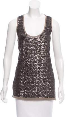 Les Copains Sequined Sleeveless Blouse