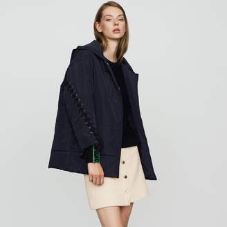 Maje Cropped down jacket with lacing