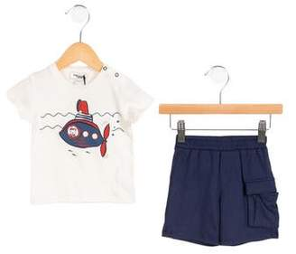 Junior Gaultier Boys' Submarine Print Shorts Set