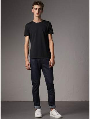 Burberry Straight Fit Stretch Japanese Selvedge Denim Jeans