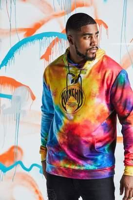 Big & Tall Quavo Rainbow Tie Dye Hoodie