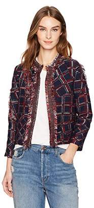 Cynthia Rowley Women's Fringe Tweed Jacket