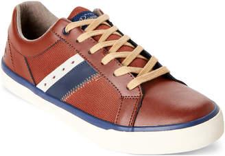 Original Penguin Cognac Bruce Leather Low Top Sneakers
